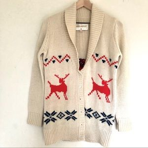 Anthropologie Lauren Moffatt reindeer sweater